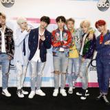 Estos son los miembros de la banda de K-pop BTS.