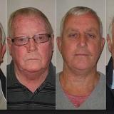 """Michael Seed, Terry Perkins, John Collins y Brian Reader,  """"Los abuelos ladrones""""."""