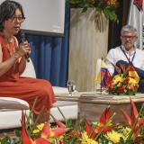 """""""Lo medular de la guerra terminó, no vamos a dejar perder la paz"""": Martha Ruiz"""