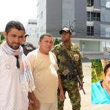 Jackson Cano (camiseta blanca con poncho), y Óscar Antonio Pupo, conductor de Juan Felipe Ustáriz, fueron capturados como presuntos implicados en el crimen. Los dos aceptaron su participación en el hecho.
