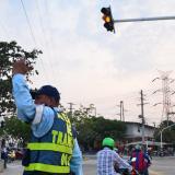Con semáforos e infraestructura vial, alcaldía de Soledad entrega más obras para mejorar la movilidad