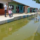 En Las Flores temen emergencia sanitaria por las aguas estancadas