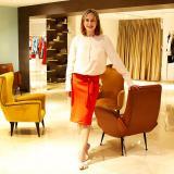 Silvia Tcherassi posa en su boutique, en el norte de Barranquilla.