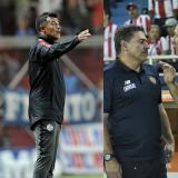 Jorge Almirón y Luiz Felipe Scolari.