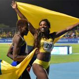 Caterine Ibargüen durante su participación en los Juegos Centroamericanos y del Caribe Barranquilla 2018.