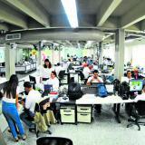 Aspecto de la sala de redacción de EL HERALDO.