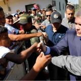 El presidente Iván Duque en su llegada a Caldono.