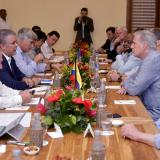 El presidente Duque durante un encuentro en Cartagena con una delegación bipartidista y bicameral de congresistas de Estados Unidos.