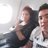 Ilse Amory con su pareja, el colombiano Juan Guillermo Valderrama Amezquita, el 5 de marzo.
