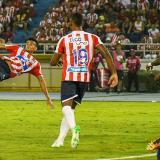Luis Díaz remató de media chilena frente al Deportivo Pasto. La pelota resultó demasiado desviada.