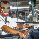 Conductor emula a Iron Man en un bus de Transmetro