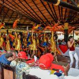 Presentación de la Banda de Baranoa durante la sesión descentralizada de la Asamblea.