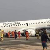 En video   Así fue aterrizaje forzoso de un avión sin ruedas delanteras