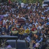 Ayer a las 4 de la tarde se cumplieron las exequias del vigilante Alberto Julio Peña.