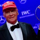 El triple campeón del mundo de Fórmula 1 austríaco Niki Lauda.