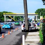 Punto de control militar en la frontera México - EEUU.