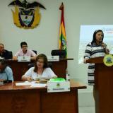 Emelith Barraza, secretaria de Hacienda Distrital.