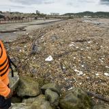 Una crisis ambiental se presentó en los balnearios del Atlántico por la llegada de desechos del río.