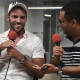 Sebastián Viera junto al editor de deportes de EL HERALDO, Rafael Castillo.
