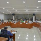 Los concejales reunidos en la plenaria, durante la sesión que se celebró la mañana de ayer.