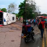 Aparatoso accidente en la vía a Tolú deja al menos 18 heridos