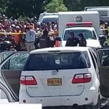 En esta camioneta Toyota Fortuner de color blanco, de placa RHK-946 se desplazaba Hali Yamal Saghair.