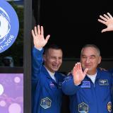 Tres astronautas despegarán hacia la ISS 50 años después del Apolo 11