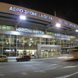 El aeropuerto de Belgrado Nikola Tesla donde llamó al hombre a hacer la denuncia de bomba.