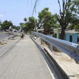 Vista de las nuevas barandas en Malambo.