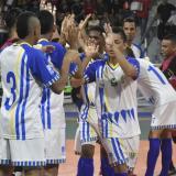 Jugadores de Barranquilleros celebrando el triunfo.