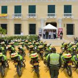 Las motos fueron entregadas en una ceremonia realizada en la plazoleta del Museo Bolivariano.