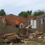 Panorama de ayer en una de las zonas afectadas.