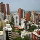 La panorámica muestra varias de edificaciones ubicadas en la zona norte de Barranquilla.