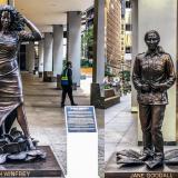 Develan estatuas de mujeres famosas en Nueva York en proyecto por equidad