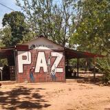 Campamento en el Espacio Territorial de Reincorporación en Pondores, La Guajira.