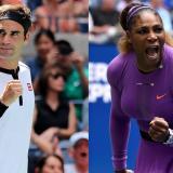 Roger Federer y Serena Williams, ganadores de 20 y 23 Grand Slams respectivamente.