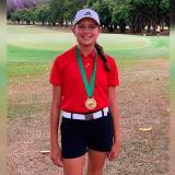 Daniela Páez logra oro en nacional de golf en Cali