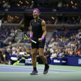 El español Rafael Nadal celebrando en el US Open.