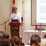Daniel Wills, subdirector de Programación Macroeconómica del Ministerio de Hacienda, durante su intervención en la Uninorte.