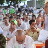 El ministro de Agricultura, Andrés Valencia, en su visita a Córdoba.