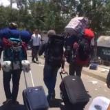 Venezolanos de camino hacia Colombia.