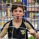 Juan David Navarro Insignares, el volante ofensivo barranquillero de 12 años.