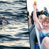 La mujer que superó el cáncer y cruzó nadando cuatro veces el canal de la Mancha sin parar
