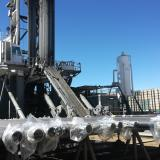 Pozo de fracking en un campo de Estados Unidos.