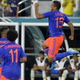 Celebración gol Luis Fernando Muriel.
