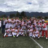 La selección Atlántico sub-23 celebrando el título en Bogotá.