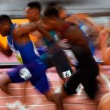 El estadounidense Christian Coleman, con un tiempo de 9.76, se proclamó ayer campeón en los 100 metros del Mundial de atletismo de Doha.