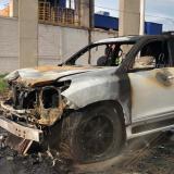 En video   Accidente vial e incendio de vehículo en la Vía 40