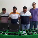 Cinco capturados por receptación de celulares hurtados