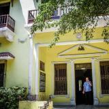 Fachada donde en la actualidad se levanta el emblemático Museo Romántico de Barranquilla.